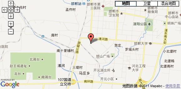 河北省邯郸市地图
