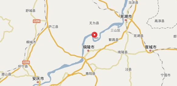 安徽芜湖无为地图