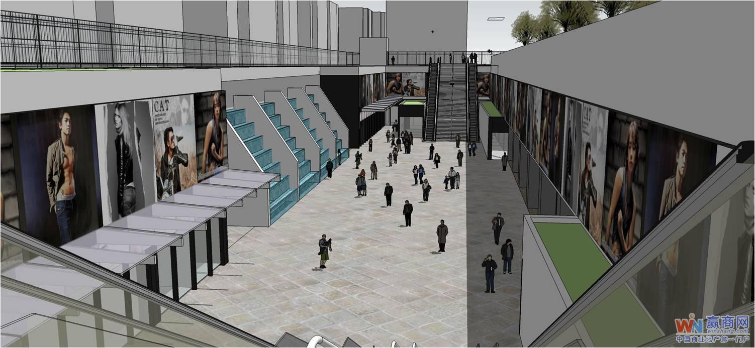 下沉式购物广场图片