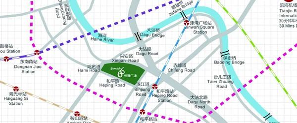紧邻天津火车站,可换乘多条地铁线路