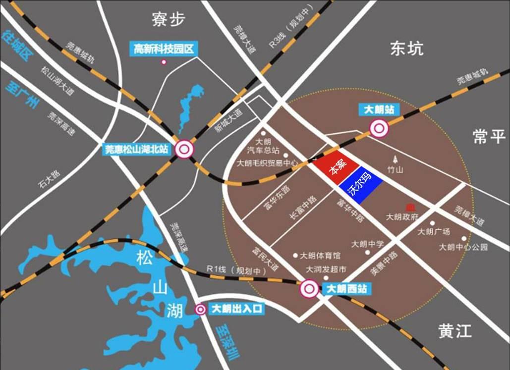 东莞地图各镇分区