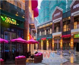 上海金山万达广场室外步行街